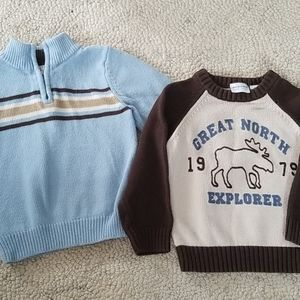 2t Sweater blue & brown